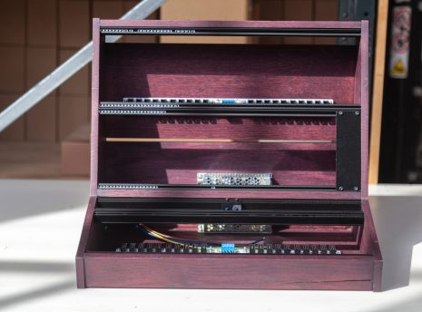2-Many-Synths---10U-84HP-VCS3-style-Eurorack-case-in-purple-coloured-linseed-oil---IMG_0463-copy