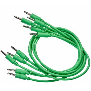 set of 5 green cables