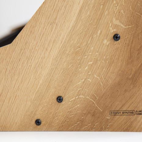 Eurorack case 12U 126HP solid Oak - 2 Many Synths - IMG_7234 web