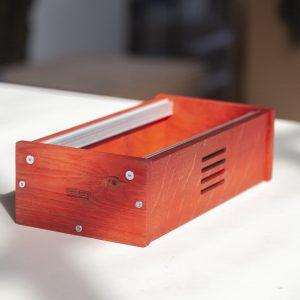 3U 60HP Skiff case in red linseed oil (showmodel)